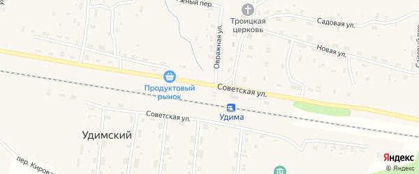 Станционная улица на карте Удимского поселка с номерами домов