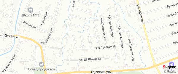 6-й Луговой переулок на карте Шали с номерами домов