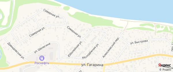 Юбилейная улица на карте села Красноборска с номерами домов