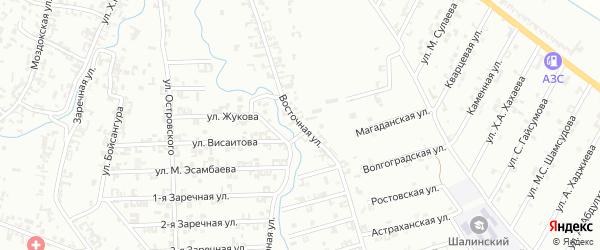 Восточная улица на карте Шали с номерами домов