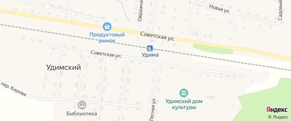 Советская улица на карте Удимского поселка с номерами домов
