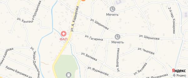 Улица Гагарина на карте села Герменчук с номерами домов