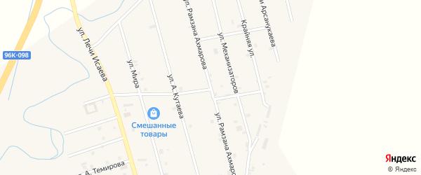 Улица Рамзана Ахмарова на карте села Герменчук с номерами домов