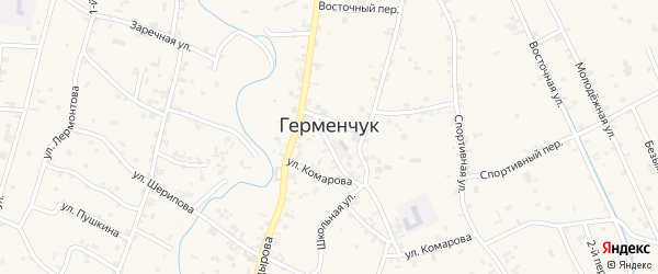 Улица Салмана Келиматова на карте села Герменчук с номерами домов