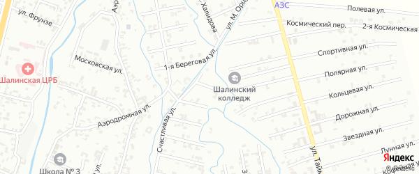 Переулок 8-й Зенита на карте Шали с номерами домов