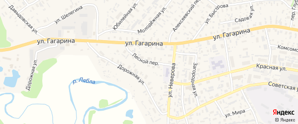 Лесной переулок на карте села Красноборска с номерами домов
