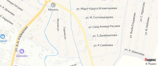2-й Шоссейный переулок на карте села Герменчук с номерами домов