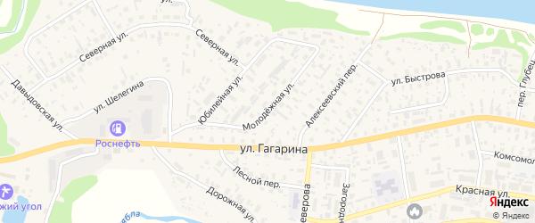 Молодежная улица на карте села Красноборска с номерами домов