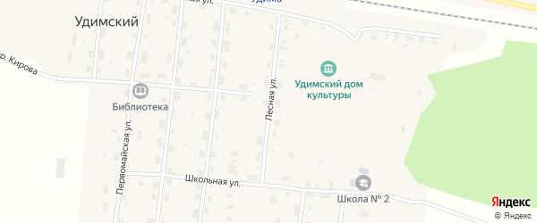 Лесная улица на карте Удимского поселка с номерами домов