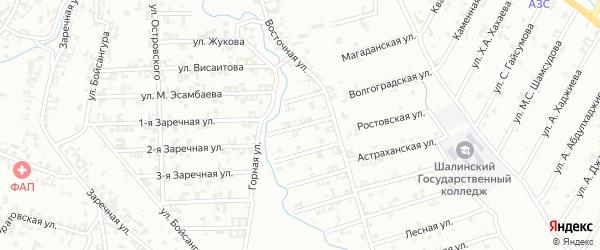 2-я Строительная улица на карте Шали с номерами домов