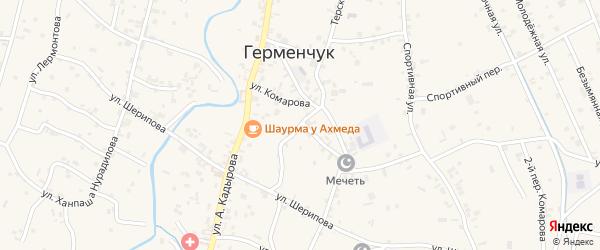 Школьная улица на карте села Герменчук с номерами домов