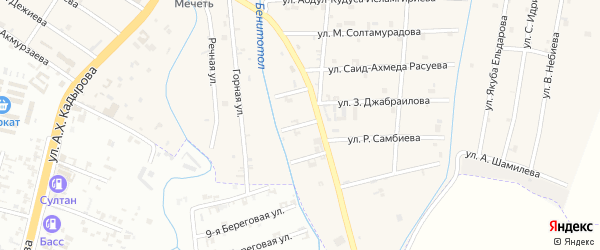 3-й Шоссейный переулок на карте села Герменчук с номерами домов