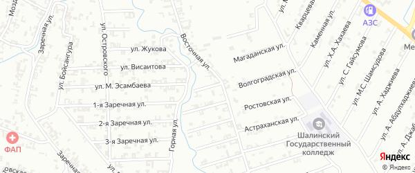 1-я Строительная улица на карте Шали с номерами домов