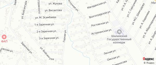3-я Строительная улица на карте Шали с номерами домов