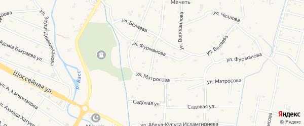 Переулок 1-й Матросова на карте села Герменчук с номерами домов
