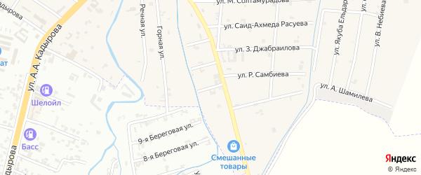 4-й Шоссейный переулок на карте села Герменчук с номерами домов