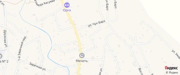 Переулок Гагарина на карте села Герменчук с номерами домов