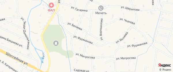 Переулок Беляева на карте села Герменчук с номерами домов