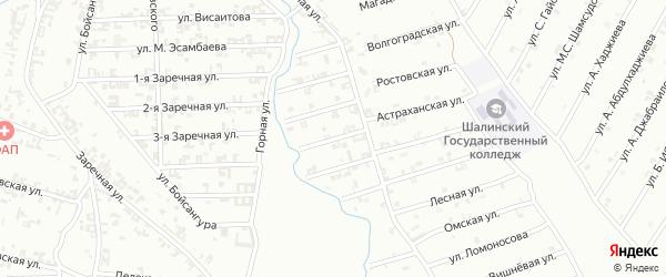 4-я Строительная улица на карте Шали с номерами домов