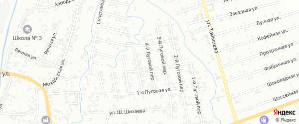4-й Луговой переулок на карте Шали с номерами домов