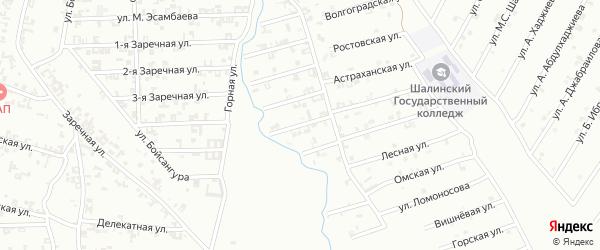 5-я Строительная улица на карте Шали с номерами домов
