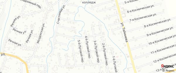 Улица 3-й Луговой на карте Шали с номерами домов