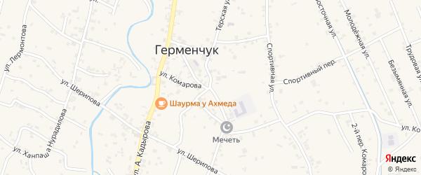 Терская улица на карте села Герменчук с номерами домов
