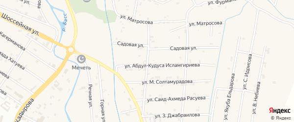 Переулок 2-й Матросова на карте села Герменчук с номерами домов