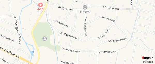 Улица Беляева на карте села Герменчук с номерами домов