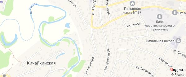 Улица Неверова на карте села Красноборска с номерами домов