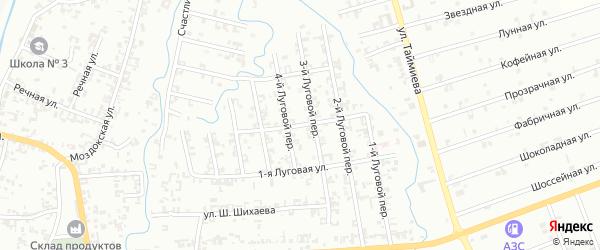 2-я Луговая улица на карте Шали с номерами домов