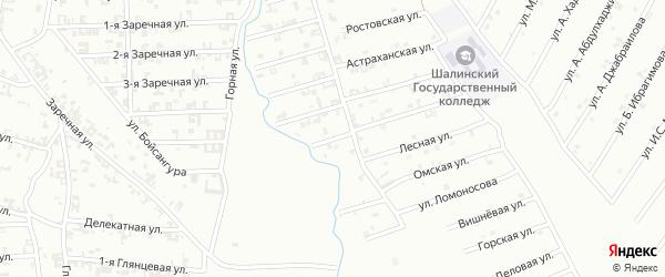 6-я Строительная улица на карте Шали с номерами домов