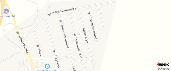 Крайняя улица на карте села Герменчук с номерами домов