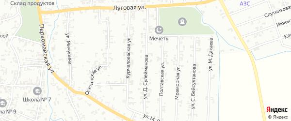 Улица Д.Сулейманова на карте Шали с номерами домов