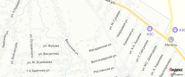 Вологодская улица на карте Шали с номерами домов