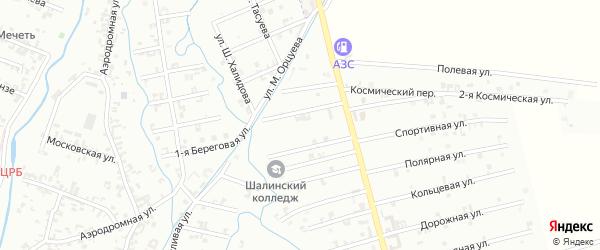 9-й Магнитный переулок на карте Шали с номерами домов