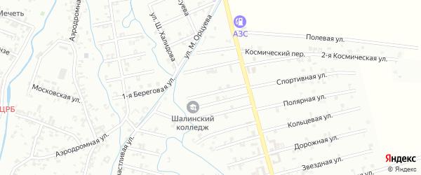 8-й Магнитный переулок на карте Шали с номерами домов