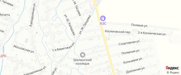10-й Магнитный переулок на карте Шали с номерами домов