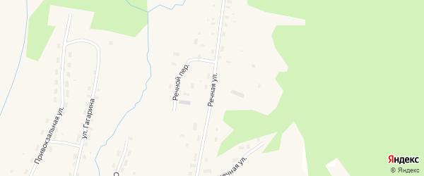 Речная улица на карте Удимского поселка с номерами домов