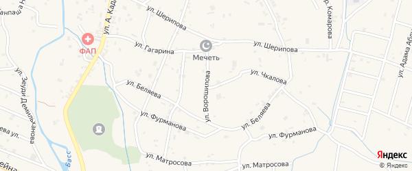 Улица Ворошилова на карте села Герменчук с номерами домов