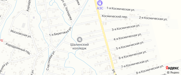 7-й Магнитный переулок на карте Шали с номерами домов