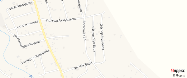 Переулок 1-й Чух-Барз на карте села Герменчук с номерами домов