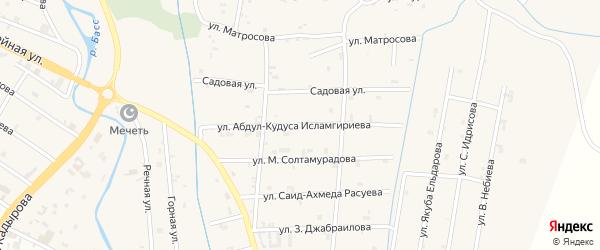 Улица Абдул-Кудуса Исламгириева на карте села Герменчук с номерами домов