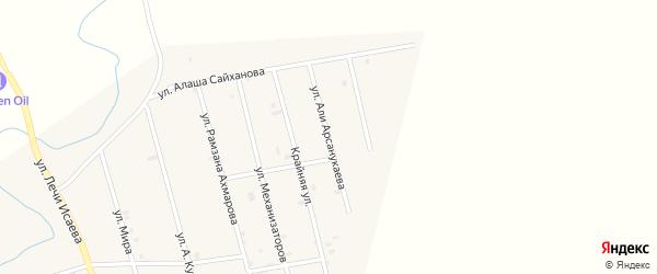 Улица Али Арсанукаева на карте села Герменчук с номерами домов
