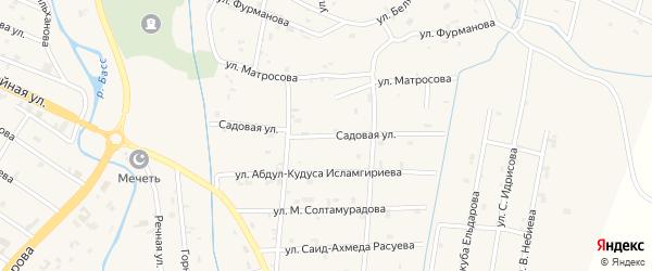 Садовая улица на карте села Герменчук с номерами домов
