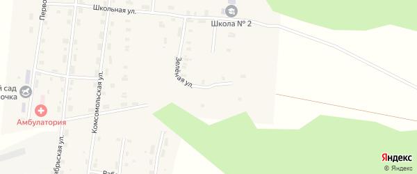 Зеленая улица на карте Удимского поселка с номерами домов