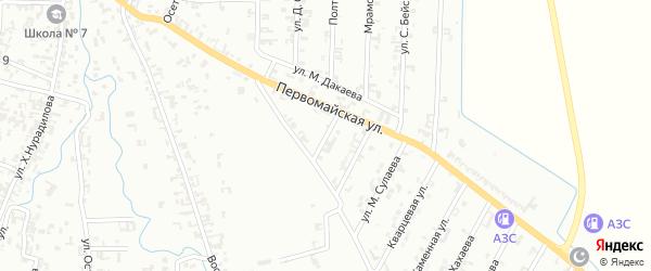 1-й Первомайский на карте Шали с номерами домов