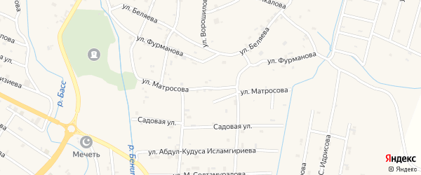 Улица Матросова на карте села Герменчук с номерами домов
