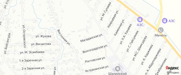 Магаданская улица на карте Шали с номерами домов