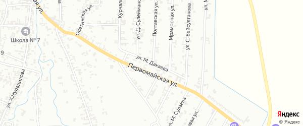 Улица М.Дакаева на карте Шали с номерами домов
